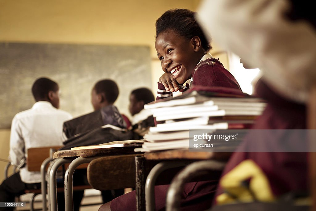 Happy young South African girl with a big smile : Stock Photo