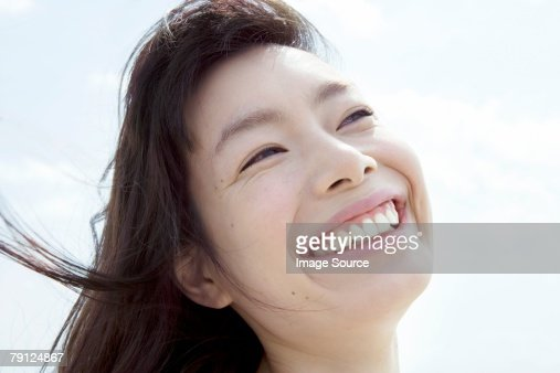 Happy young woman : Stock Photo