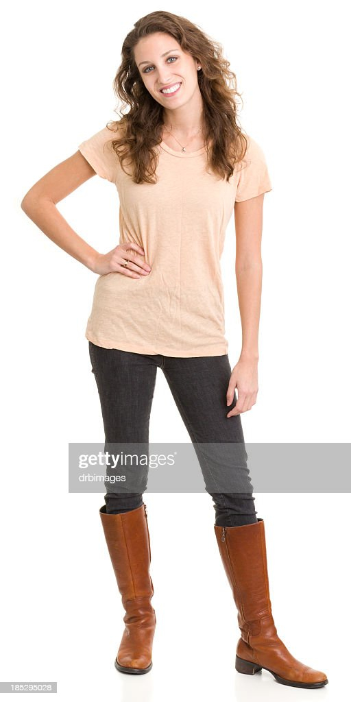 Happy Young Woman Standing