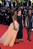 Hapsatou Sy Roselyne Bachelot and Audrey Pulvar attend 'The Immigrant' Premiere during the 66th Annual Cannes Film Festival at Grand Theatre Lumiere...
