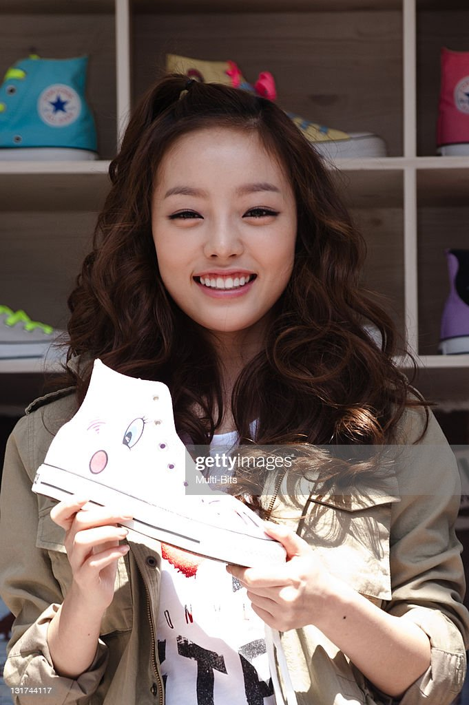 Ha-Ra of KARA attends the 'Converse Moving Custom Studio' Event at Apgujeong on April 12, 2011 in Seoul, South Korea.