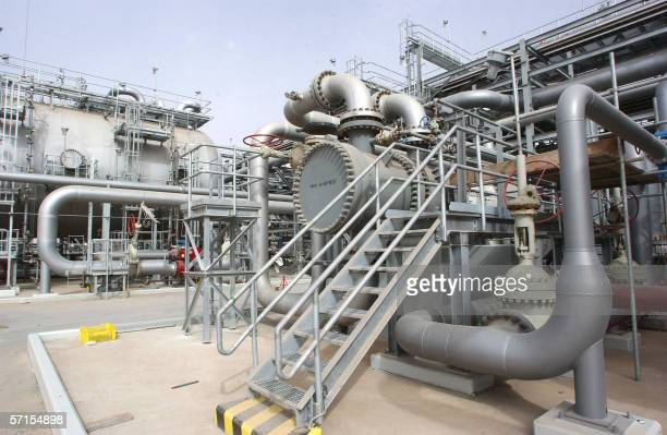 A general view shows a new plant inaugurated 22 March 2006 in Haradh about 280 kms southwest of the eastern Saudi oil city of Dhahran launching a...
