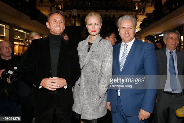 Harald G Huth Franziska Knuppe and Klaus Wowereit attend the 'LP 12 Mall of Berlin' PreOpening on September 24 2014 in Berlin Germany