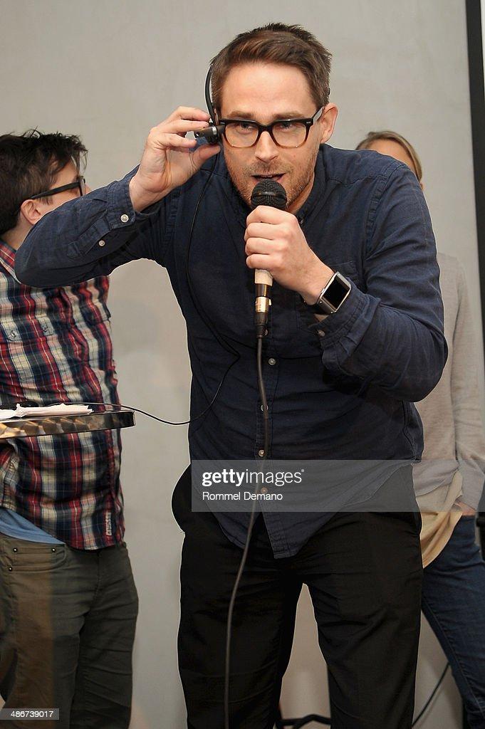 Harald Haraldsson of Team Faceless speaks at the Tribeca Hacks (Mobile) Presentation during the 2014 Tribeca Film Festival at Bennett Space on April 25, 2014 in New York City.