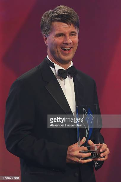 Harald Krueger Board of Management member for Production of BMW AG receives the Bavarian Sportaward 2013 during the Bavarian Sport Award gala at BMW...