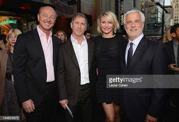 Harald Ludwig Lionsgate CoChairman and Chief Executive Officer Jon Feltheimer actress Cameron Diaz and CoChairman of Lionsgate Rob Friedman arrive at...