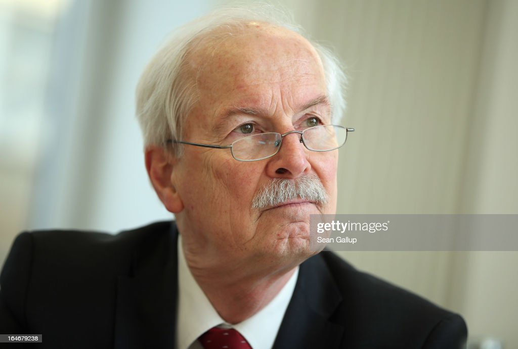 Harald Range, Federal Prosecutor General of Germany's Federal Court of Justice (Bundesgerichtshof), speaks to foreign journalists on March 26, 2013 in Berlin, Germany. Range is leading investigaitons against Beate Zschaepe and other leading supporters of the NSU neo-Nazi terror cell. The trial of Zschaepe and four other is to begin on April 17 following the revelation in 2011 that Uwe Boehnhardt and Uwe Mundlos, who along with Zschaepe called themselves the National Socialist Underground, had murdered nine immigrants and one policewoman between 2000 and 2007.