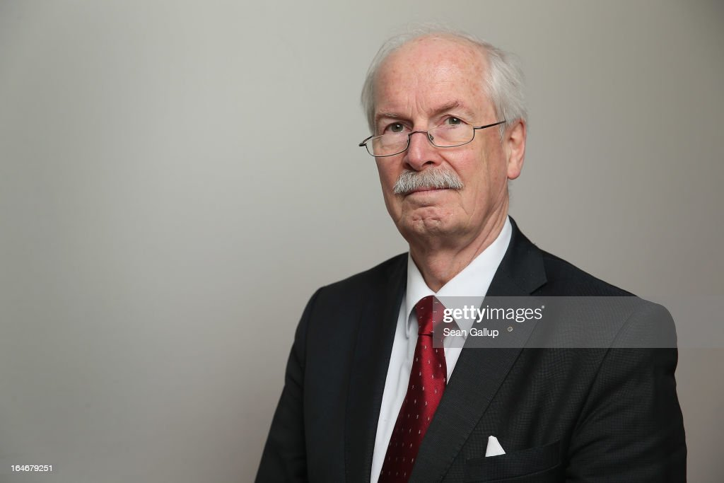 Harald Range, Federal Prosecutor General of Germany's Federal Court of Justice (Bundesgerichtshof), arrives to speak to foreign journalists on March 26, 2013 in Berlin, Germany. Range is leading investigaitons against Beate Zschaepe and other leading supporters of the NSU neo-Nazi terror cell. The trial of Zschaepe and four other is to begin on April 17 following the revelation in 2011 that Uwe Boehnhardt and Uwe Mundlos, who along with Zschaepe called themselves the National Socialist Underground, had murdered nine immigrants and one policewoman between 2000 and 2007.