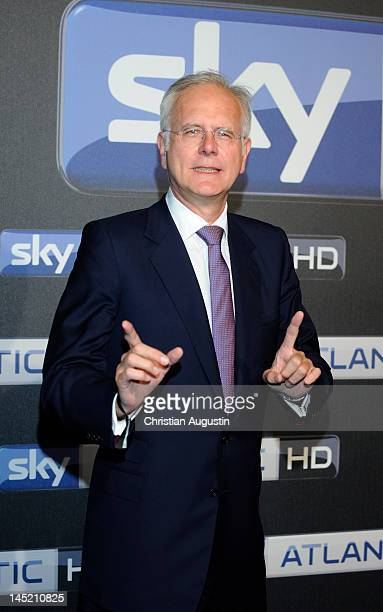 Harald Schmidt attends SKY launch event 'Sky Atlantic HD' at the location 'Schuppen 51' on May 23 2012 in Hamburg Germany