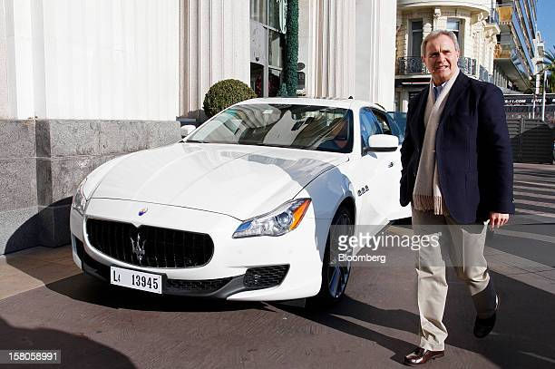 Harald Wester chief executive officer of Maserati the luxuryauto maker owned by Fiat SpA walks past the company's new Quattroporte V8 automobile...