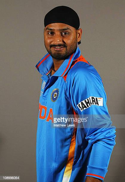 Harbhajan Singh of India poses during a portrait session ahead of the 2011 ICC World Cup at the ITC Gardenia on February 11 2011 in Bangalore India