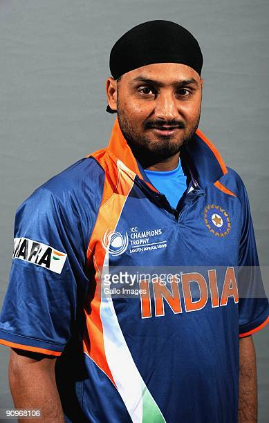 Harbhajan Singh poses during the ICC Champions photocall session of the Indian cricket team at Sandton Sun on September 19 2009 in Sandton South...