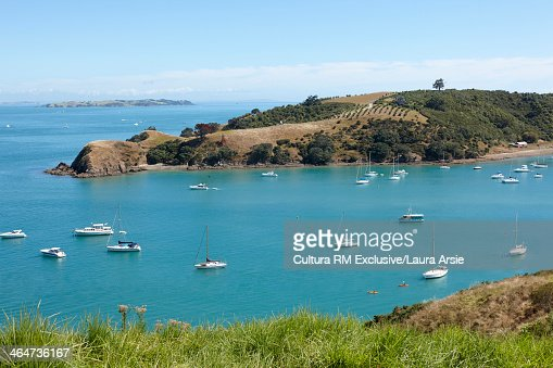 Harbor and boats Waiheke Island, Auckland, New Zealand