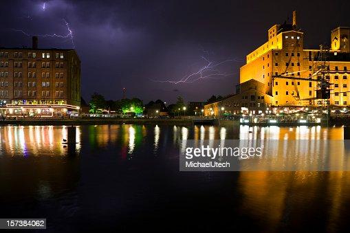 Harbor And Lightning