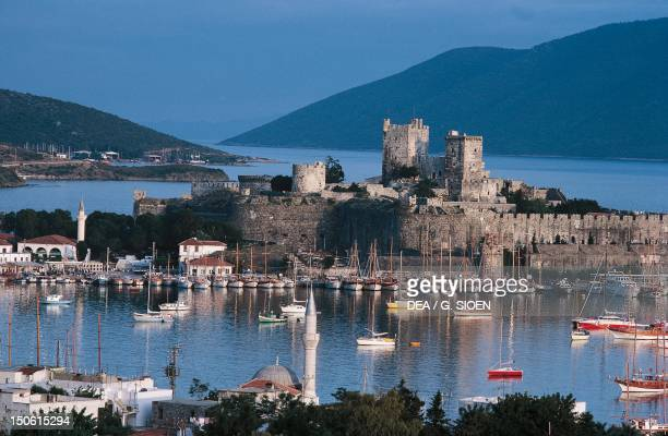 Harbor and St Peter's Castle Turkey 15th century