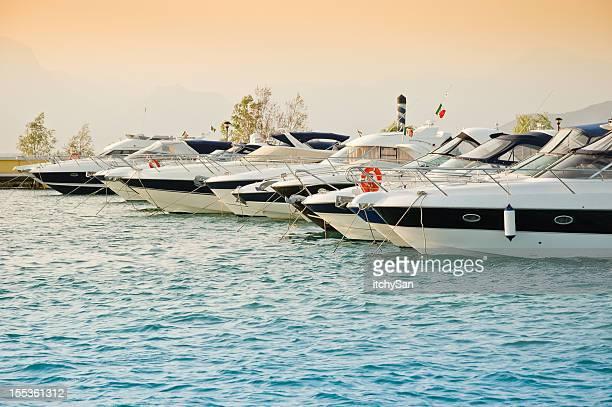Harbor at Lago di Garda lake