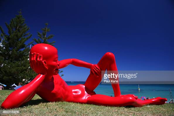 'Harbor' by artist Chen Wenling is seen at Sculpture By The Sea at Cottesloe Beach on March 5 2015 in Perth Australia