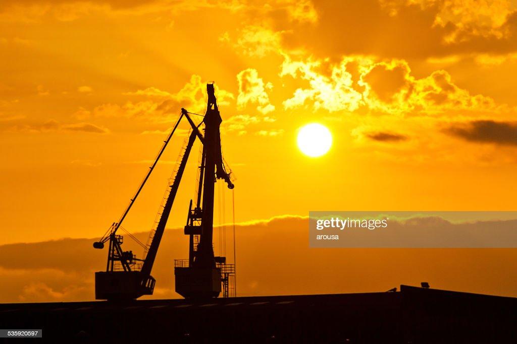Harbor cranes : Stock Photo