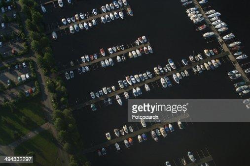 Harbor full of boats : Stock Photo