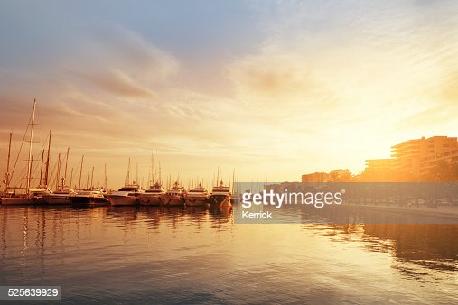 harbor in Palma de Mallorca in afternoon light
