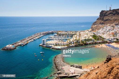 Harbor in Puerto de Mogan on Grand Canary Island