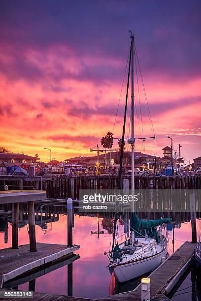 Harbor in Ventura at Sunset