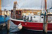 Harbor of Flensburg at the end of Flensburg Fjord