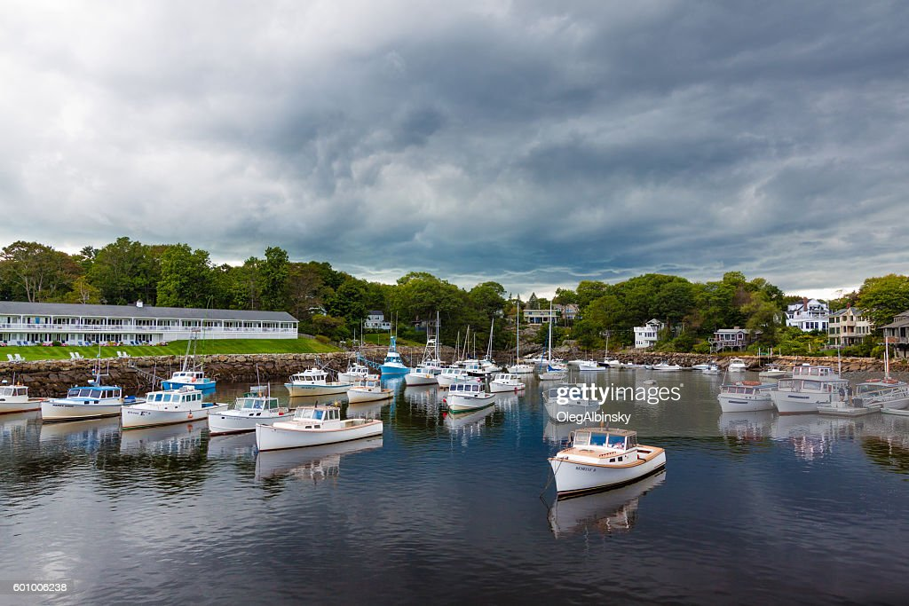 Harbor View Fishing Boats Sailboats And Hotels Perkins Cove Maine
