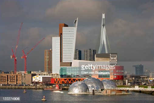 Harbour and Rotterdam skyline