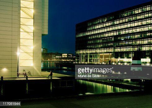 Harbour at night : Stock Photo