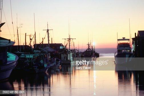 Harbour at sunset, Louisiana, USA