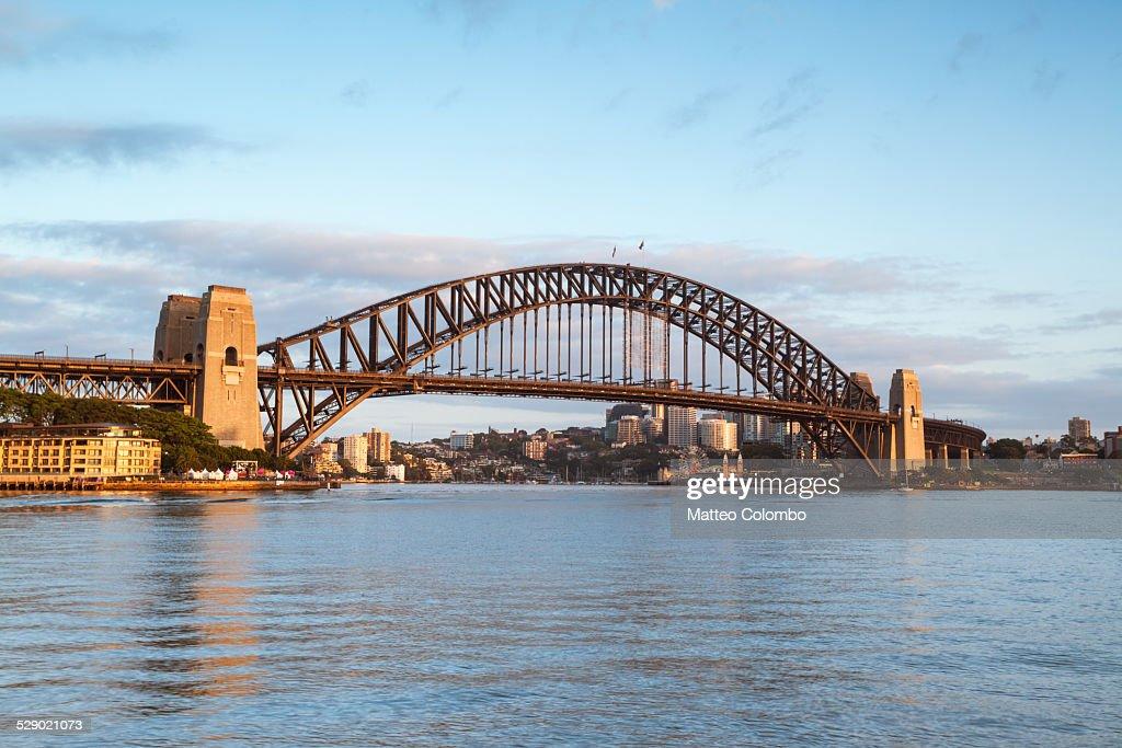 Harbour bridge at sunrise, Sydney, Australia