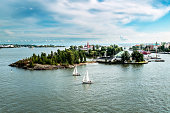 The harbour of Helsinki.Finland.