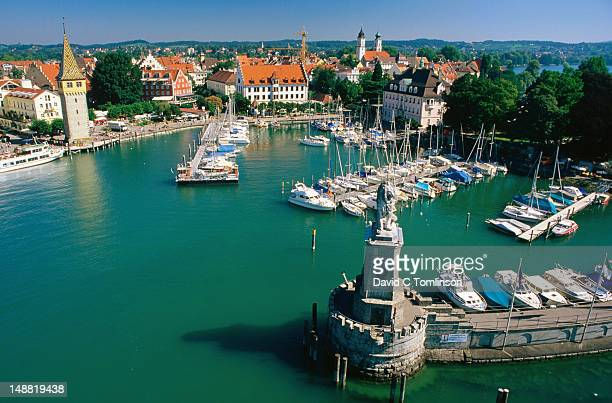 Harbour on Lake Constance from top of lighthouse.