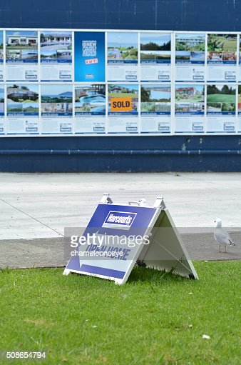 Harcourts real estate Open Home : Stock Photo