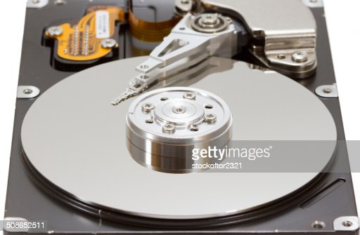 Hard disk drive inside : Stock Photo
