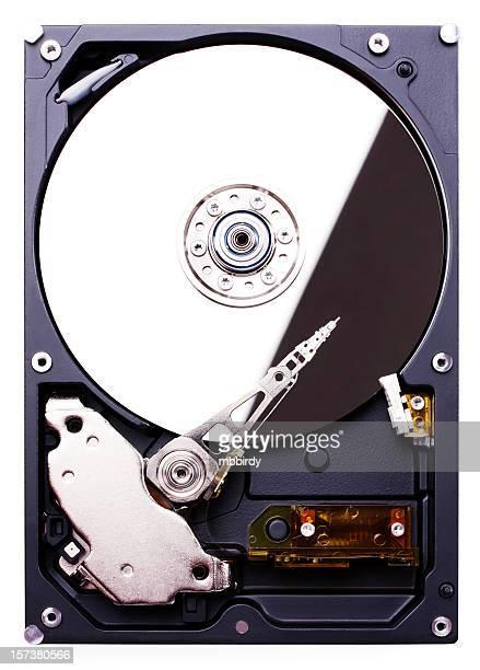 Festplatte (clipping path), isoliert auf weißem Hintergrund