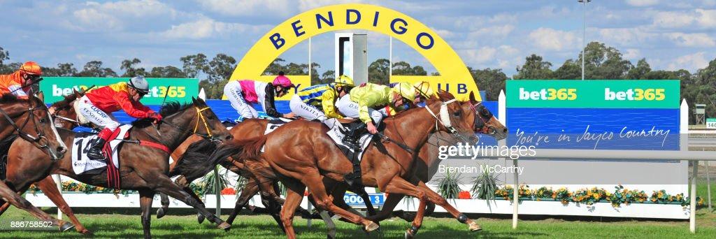 Hard Empire ridden by John Allen wins the Adroit Insurance BM70 Handicap at Bendigo Racecourse on December 06, 2017 in Bendigo, Australia.