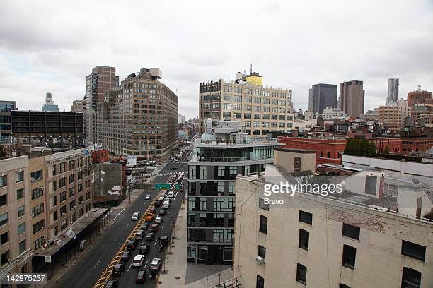 YORK 'Hard Hats and Hard Heads' Episode 103 Pictured View of Canal Street from a TriBeCa real estate project construction site in New York City in...