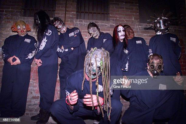 Hard rock band Slipknot is photographed for Los Angeles Times on May 15 2000 in Los Angeles California PUBLISHED IMAGE CREDIT MUST READ Gina...