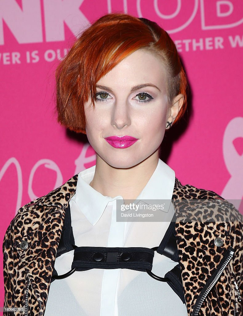 Hard Rock launches it's PINKTOBER program with an appearance and memorabilia donation by singer/songwriter <a gi-track='captionPersonalityLinkClicked' href=/galleries/search?phrase=Hayley+Williams&family=editorial&specificpeople=4383581 ng-click='$event.stopPropagation()'>Hayley Williams</a> of Paramore at the Hard Rock Cafe on October 10, 2013 in Hollywood, California.