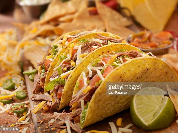 Hard Shredded Beef Tacos