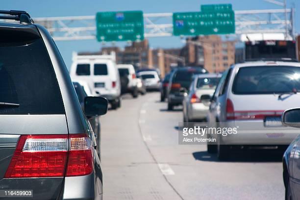 hard traffic on highway