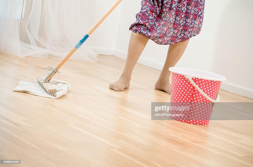 Hard working old lady : Stock Photo