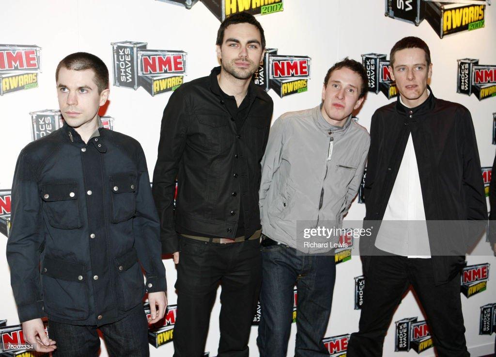 Hard-Fi arrive at the Shockwaves NME Awards 2007