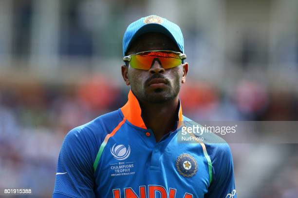 Hardik Pandya of India during the ICC Champions Trophy Final match between India and Pakistan at The Oval in London on June 18 2017