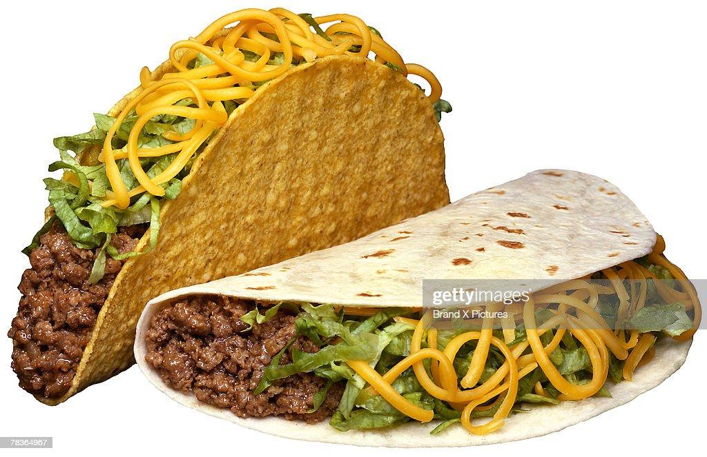 Hardshell and softshell tacos : Stock Photo