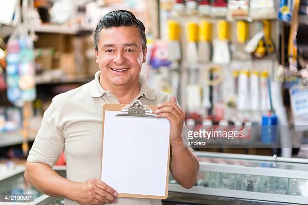 Hardware store worker