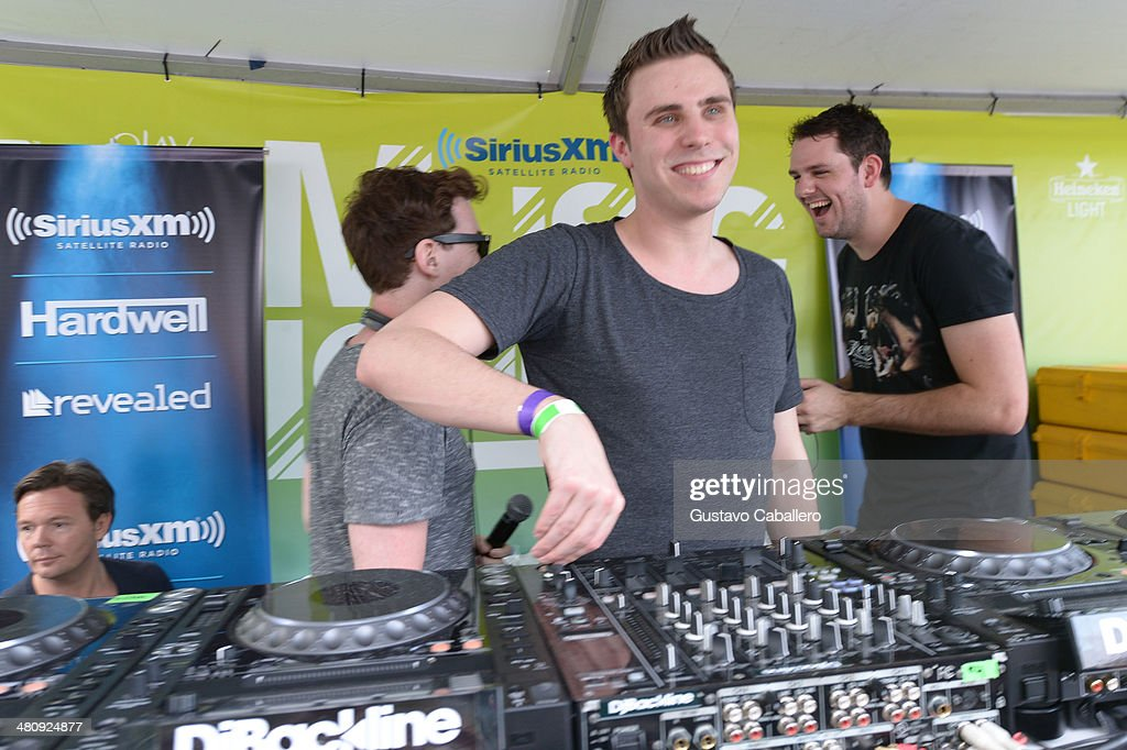 Hardwell and WandW perform live at SiriusXM's 'UMF Radio' at the SiriusXM Music Lounge at W South Beach on March 27 2014 in Miami Beach Florida