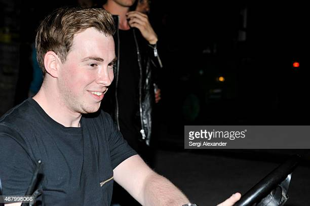 Hardwell backstage during Ultra Music Festival at Bayfront Park Amphitheater on March 28 2015 in Miami Florida